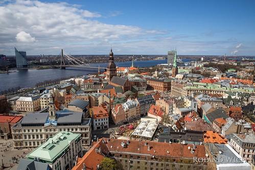riga lettland latvia baltic balticum state city view vantage point