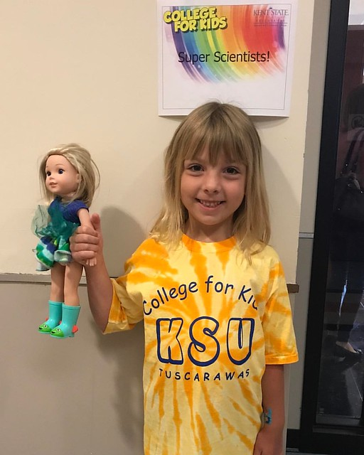 Phoebe went to college this week! She had a great time being a Super Scientist and caring for her doll Camille at the Teddy Bear ER.