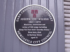 Photo of Joseph 'Joe' Wilson black plaque