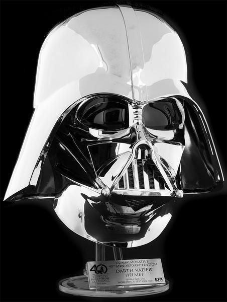 星際大戰40 週年&2017 SDCC 紀念款!!EFX Collectibles【達斯·維德頭盔】1:1 比例複製品 電鍍仕樣 40th Anniversary Commemorative Darth Vader Helmet