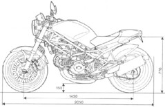 Ducati 900 MONSTER ie 2001 - 5