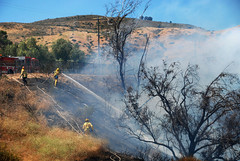 LAFD and LACoFD Vanquish Granada Hills Wildfire
