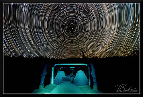 at night park photo safari jeep pointing north start snapping some 250 pictures next three hours alta ca