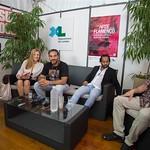 Rencontre avec le danseur Barullo, le chanteur Pedro El Granaino et le conférencier Domingo González Lavado au village Arte Flamenco