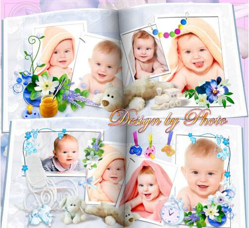 Children photobook for Photoshop for baby – sweet little angel