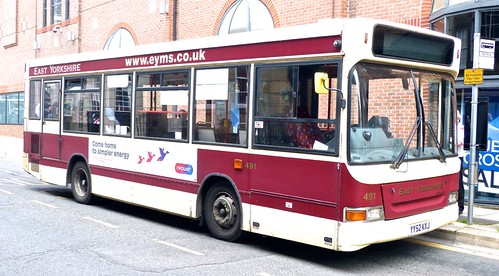 YY52 KXJ 'East Yorkshire Motor Services' No. 491 Dennis MP Dart / Plaxton Mini Pointer 2 on 'Dennis Basford's railsroadsrunways.blogspot.co.uk'