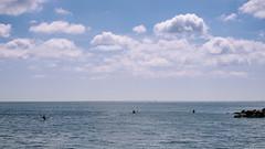 Three kayaks