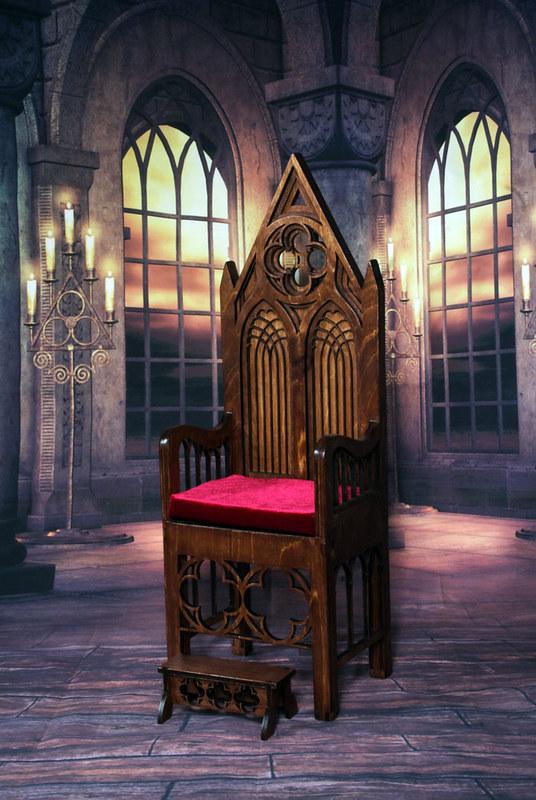 Gothic throne model 01 WATE
