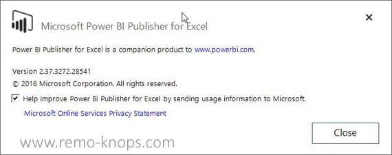 Power BI Publisher for Microsoft Excel 131