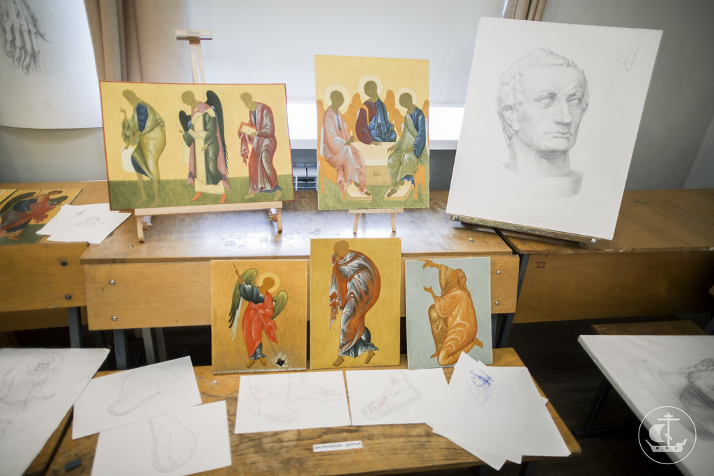 24 июня 2017, Смотр семестровых и выпускных работ на иконописном отделении / 24 June 2017, Semester and final works of the Iconographic Department review