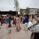 Flashmob devant le village Arte Flamenco