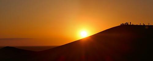 china dunhuang gobidesert dunes sand sunrise