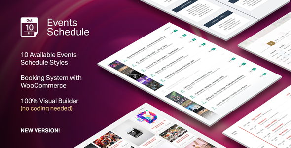 Events Schedule v2.0.5 - WordPress Plugin