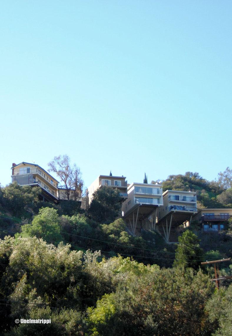Mulholland Driven taloja, Los Angeles, Kalifornia, USA