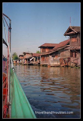 Gammele houten huizen