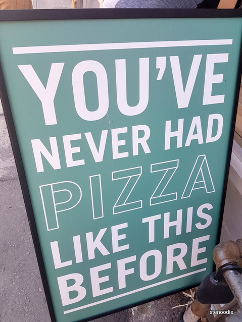 True True Pizza Queen sign