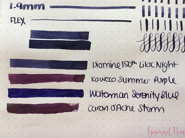 Ink Shot Review Diamine Anniversary Lilac Night @AppelboomLaren 4