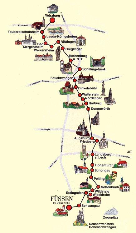 Itinerario della Romantische Strasse