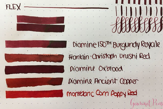 Ink Shot Review Diamine Anniversary Burgundy Royale @AppelboomLaren 4