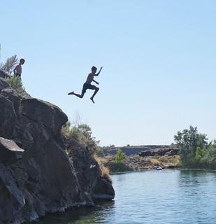 Caden cliff jumping