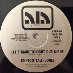 ED (TOO-TALL) JONES:LET'S MAKE TONIGHT OUR NIGHT(LABEL SIDE-A)