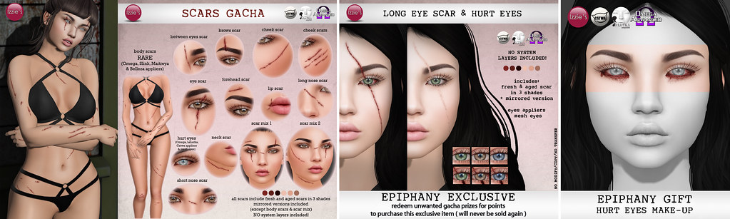 Scars Gacha (soon @ The Epiphany) - SecondLifeHub.com