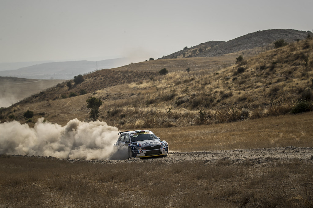 01 MAGALHAES Bruno (prt) and MAGALHAES Hugo (prt) BRUNO MAGALHAES SKODA FABIA R5 action during the 2017 European Rally Championship ERC Cyprus Rally,  from june 16 to 18  at Nicosie, Cyprus - Photo Gregory Lenormand / DPPI
