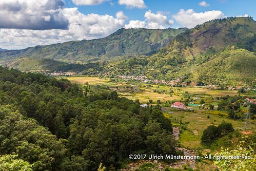 africa afrika alaotramangororegion ambodiamontana landscape landschaft madagascar régiondealaotramangoro hill landschap mountains ricefield valley