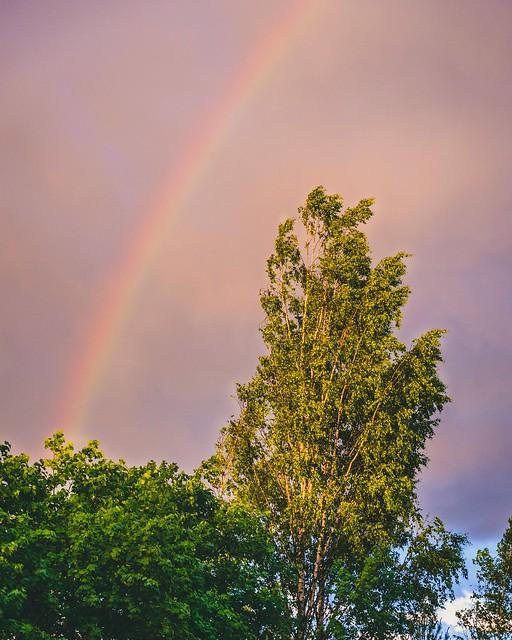 Colourful sky.