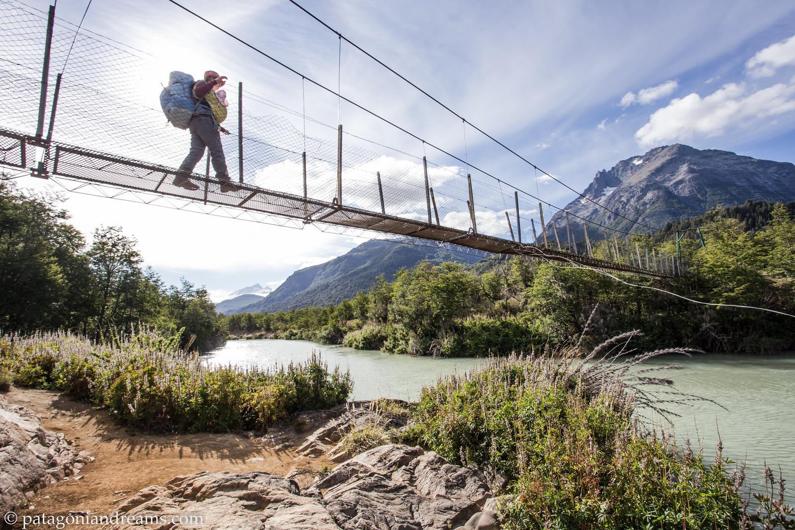 Crossing the Rio Manso. Parque Nacional Nahuel Huapi. Rio Negro. Patagonia. Argentina.
