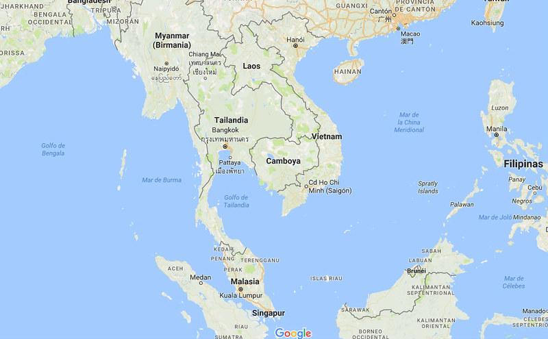 Mapa Tailandia 1