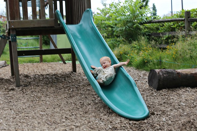 first slide by himself