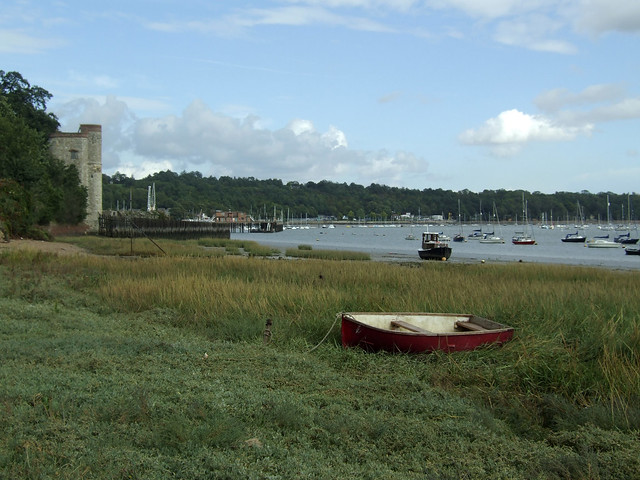 Marshes beside the Medway at Upper Upnor