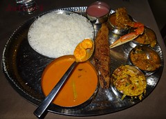 Fish Curry Rice Thali