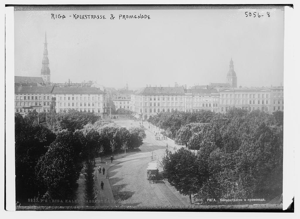 Riga -- Kalkstrasse & Promenade (LOC)