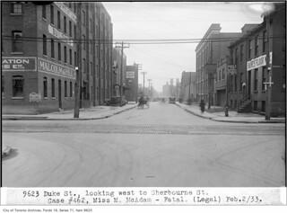 Duke (Adelaide) Street at Sherbourne Street, looking east