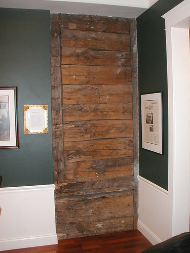 A piece of the original cabin Joseph built. From Mackinac Island with the Ghost of Magdelaine La Framboise