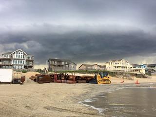 Beach Nourishment Equipment Arrives