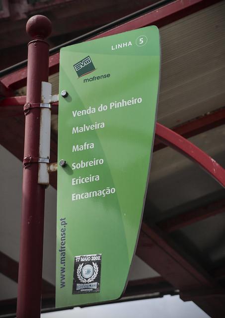 Mafrense bus - From Campo Grande, Lisbon to Mafra