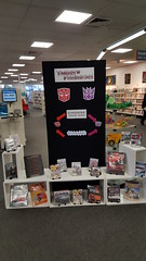 Transformers display, Shirley Library