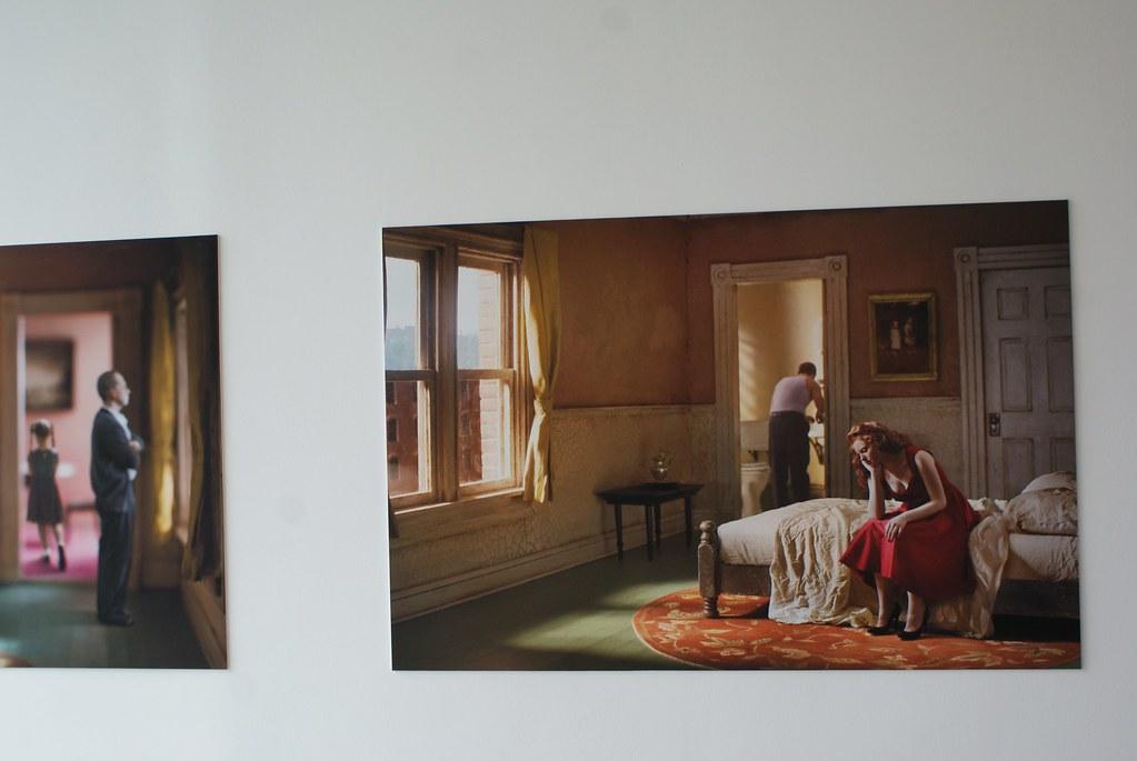 Reconstitution deRichard Tuschman de toile du génial Hopper via des maquettes + photos au Mocak de Cracovie.