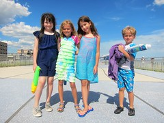 Kids On The Rockaway Boardwalk
