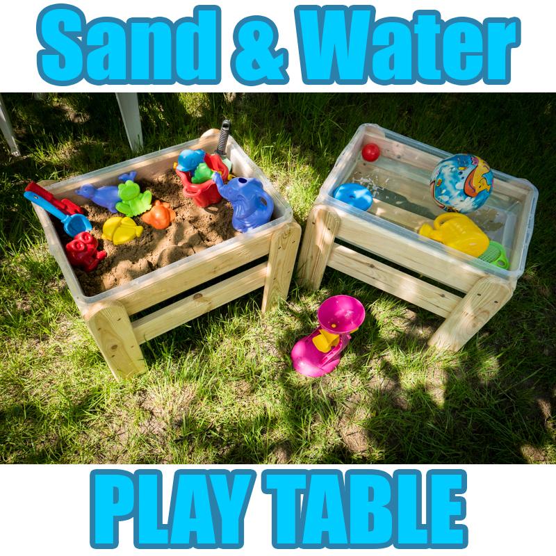 WOODEN SAND & WATER SANDPIT PLAY TABLE GARDEN KIDS INDOOR