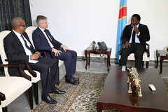 Kinshasa, DR Congo. After his 5 day visit in the DRC, Mr. Jean-Pierre Lacroix Under-Secretary-General for Peacekeeping Operations meets with the Head of state, President Joseph Kabila.