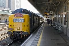 The Central Welsh Liner railtour at Cardiff Central, hauled by Deltic D9009, 17th June 2017