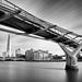 Millenium Bridge and Shard
