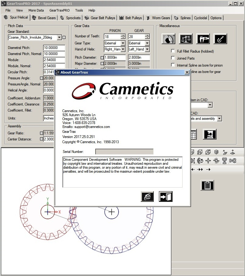 Camnetics Suite 2017 CamTrax64-GearTeq-GearTrax for AI-SE-Solidworks full crack