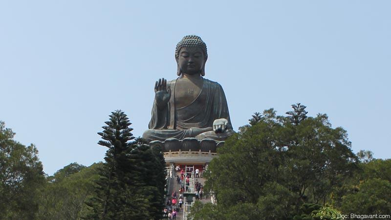 Tian Tan Buddha, Hong Kong, Tiongkok.
