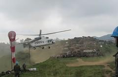 Kitchanga, province du Nord-Kivu, RD Congo: le d�ploiement des forces de maintien de la paix lors de missions de patrouilles h�liport�es lanc�es par la base d'op�ration de Kitchanga dans la r�gion de Mpati, Bweru et Kivuye pour dominer la r�gion