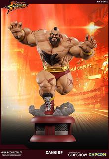 喜歡與熊決鬥的俄羅斯最強摔角手!!Pop Culture Shock 快打旋風V【桑吉爾夫】Zangief  1/4 比例雕像作品